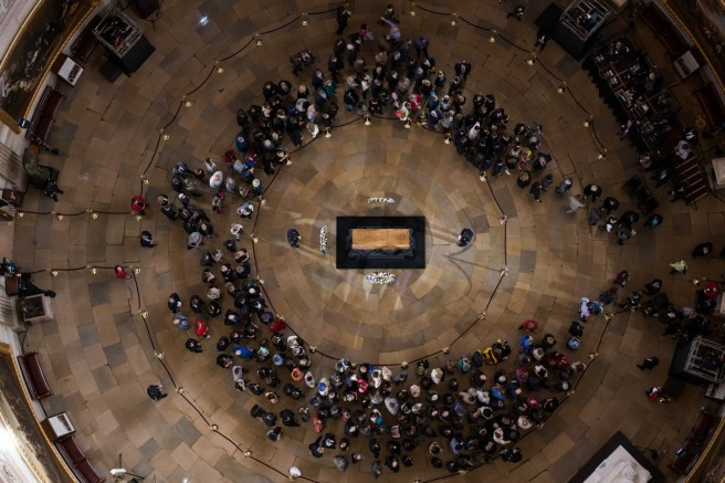 The body of Billy Graham lies in honor in the U.S. Capitol Rotunda. Graham is only the fourth private citizen—and the first religious leader—to be given this distinction.