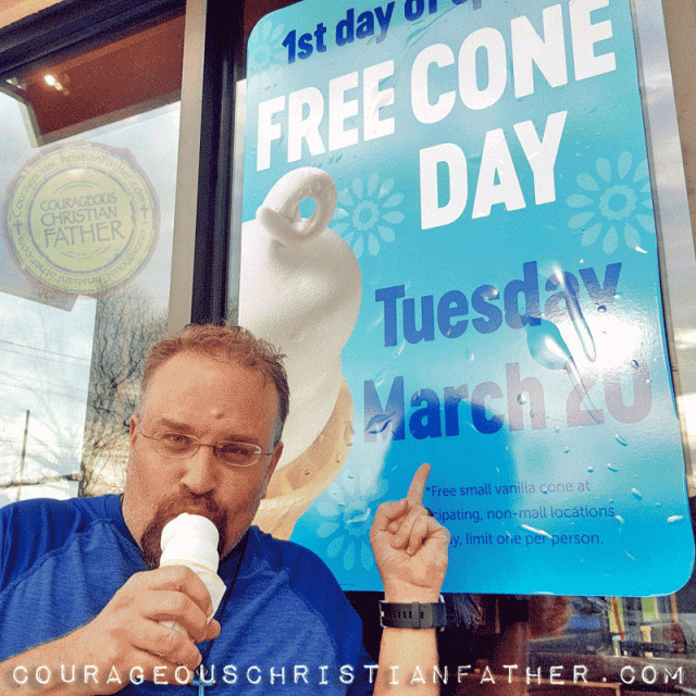 I got my free cone at Dairy Queen in Morristown, TN on Free Cone Day #FreeConeDay