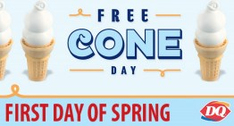 Free Cone Day at Dairy Queen (First Day of Spring) #FreeConeDay