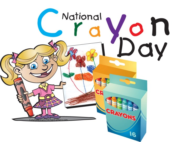 National Crayon Day #NationalCryaonDay #CrayonDay