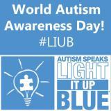 World Autism Awareness Day Autism Speaks Light It Up Blue #LIUB