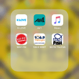 Screen shot of my Christian Music Radio Apps (Way-FM, The Fish, The Light, Air1 & K-Love)