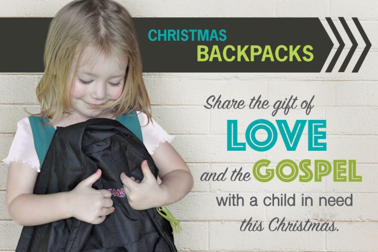 KY Christmas Backpacks 2018 - Share the gift of love and the gospel with a child in need this Christmas.