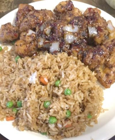 Twin Dragon Hibachi EXPRESS Ma La Chicken and Fried Rice