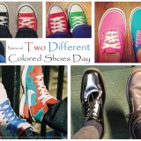 National Two Different Colored Shoes Day #TwoDifferentColoredShoesDay