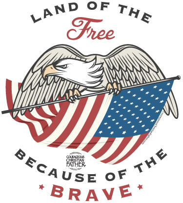 Land of the Free Because of the Brave - Memorial Day