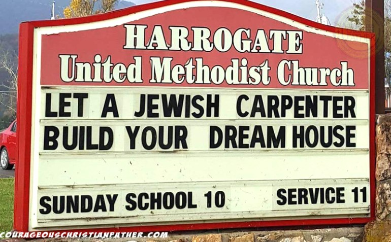 Image result for images of let a jewish carpenter build your dream house