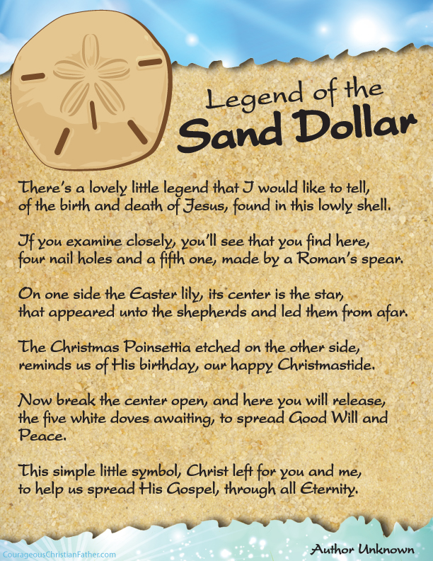 The Legend of the Sand Dollar Printable