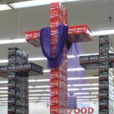 Christian Coke Displays - Crosses made out of coke products