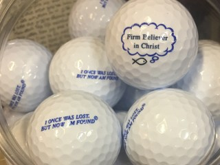 Christian Golf Balls - Golf Balls with Bible or Christian related sayings on them. #ChristianGolfBalls (Firm Believer In Christ - I Was Once Lost, But Now I Am Found)