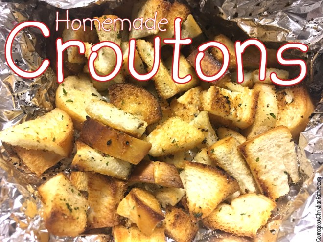 Homemade Croutons - It is very simple to make croutons homemade. More simple than you realize!