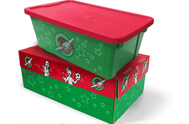 Christmas Child Boxes.Operation Christmas Child Plastic Box A New Option