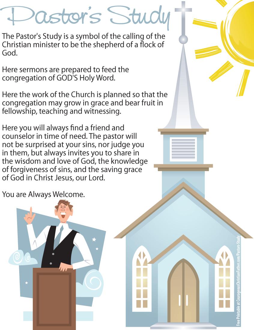 Pastor's Study Printable
