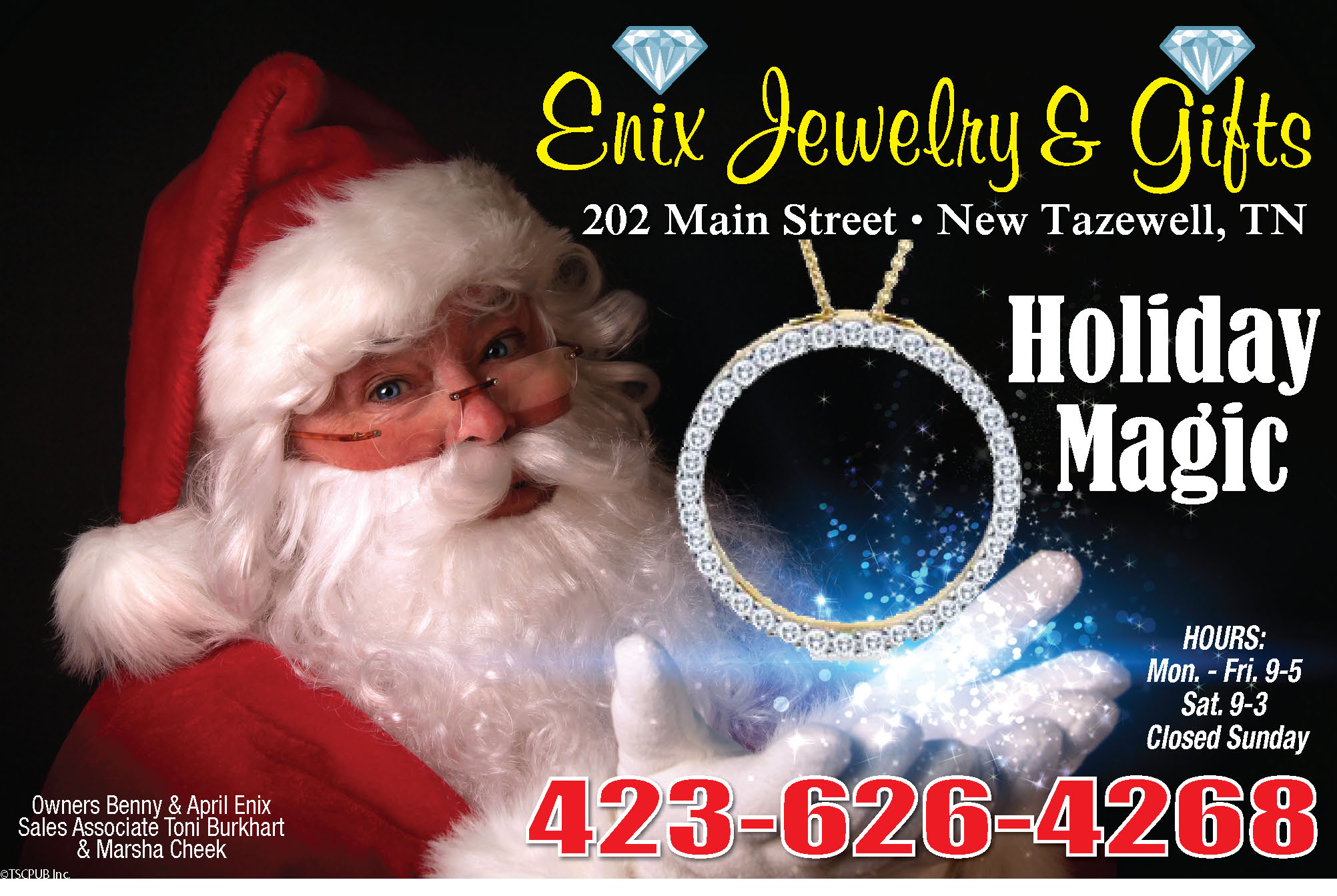 Enix Jewelry & Gifts Ad