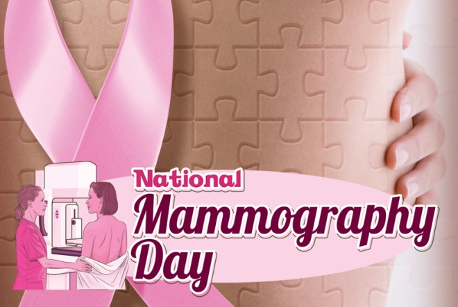 National Mammography Day - A day to help remind women to schedule their mammography for Breast Cancer screening. #NationalMammographyDay
