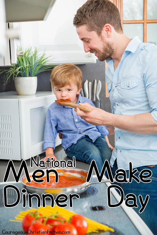 National Men Make Dinner Day - day set aside for men to cook dinner at home for the family and/or friends. #NationalMenMakeDinnerDay #MenMakeDinnerDay