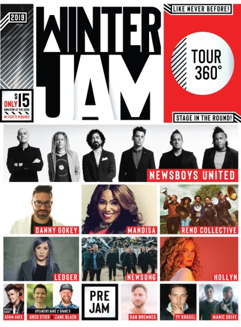 Winter Jam 2019 East Coast Line Up