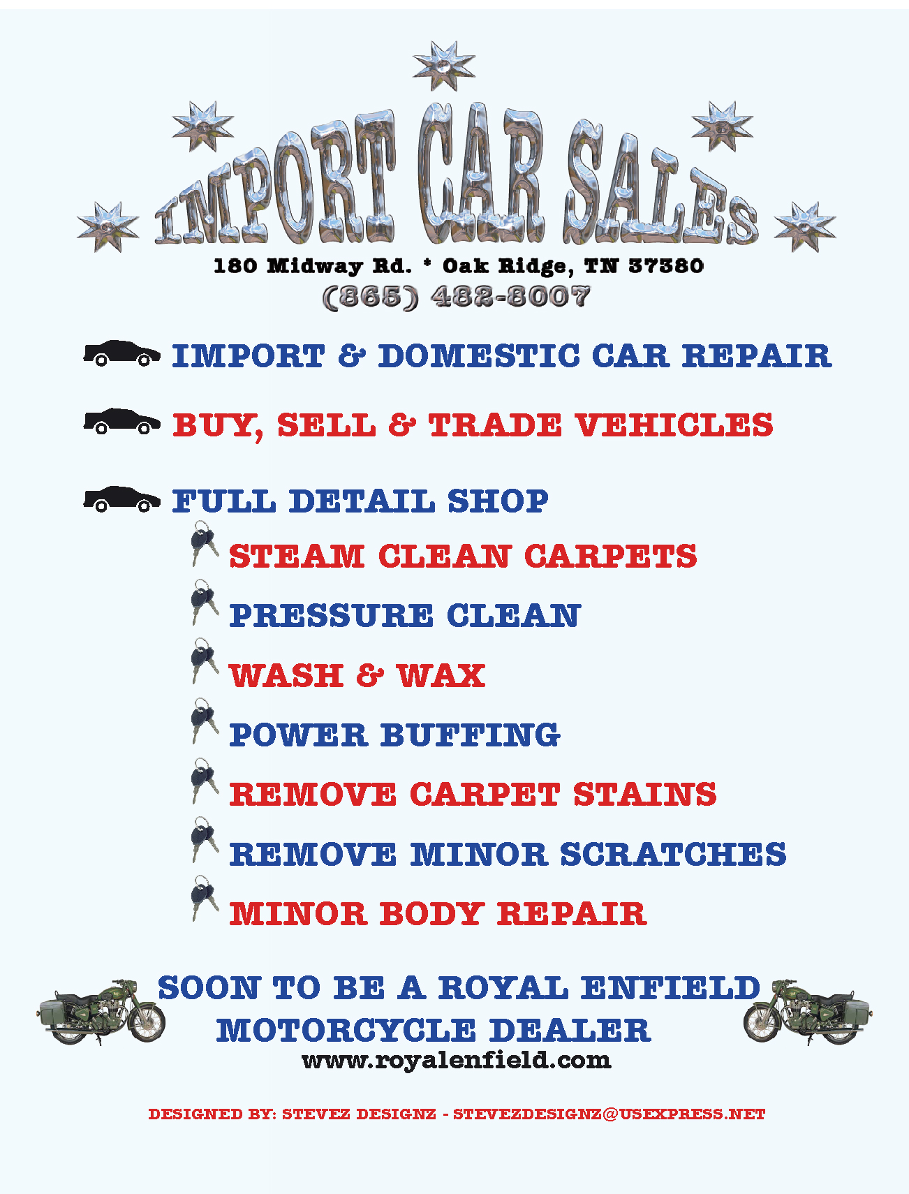 Import Cars Flyer