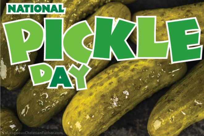 National Pickle Day - day for the beloved pickled cucumber we all or most of all of us love.