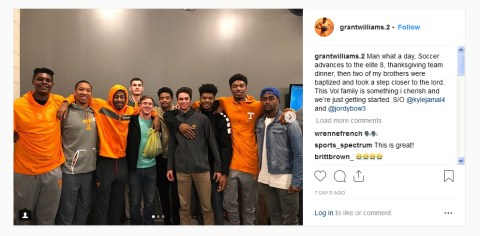 Tennessee Basketball players Get baptized - Two of the University of Tenenssee Volunteer Basketball team players got baptized! (Kyle Alexander and Jordan Bowden). #GoVols #GoGod