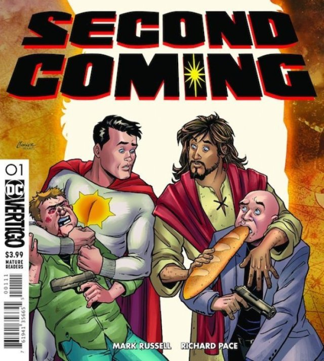 DC Comics to use Jesus Christ as a Superhero - Spring of 2019 a new comic strip called Second Coming is coming out done by DC Comics. - Richard Pace reveals the cover of upcoming DC Comic series, Second Coming