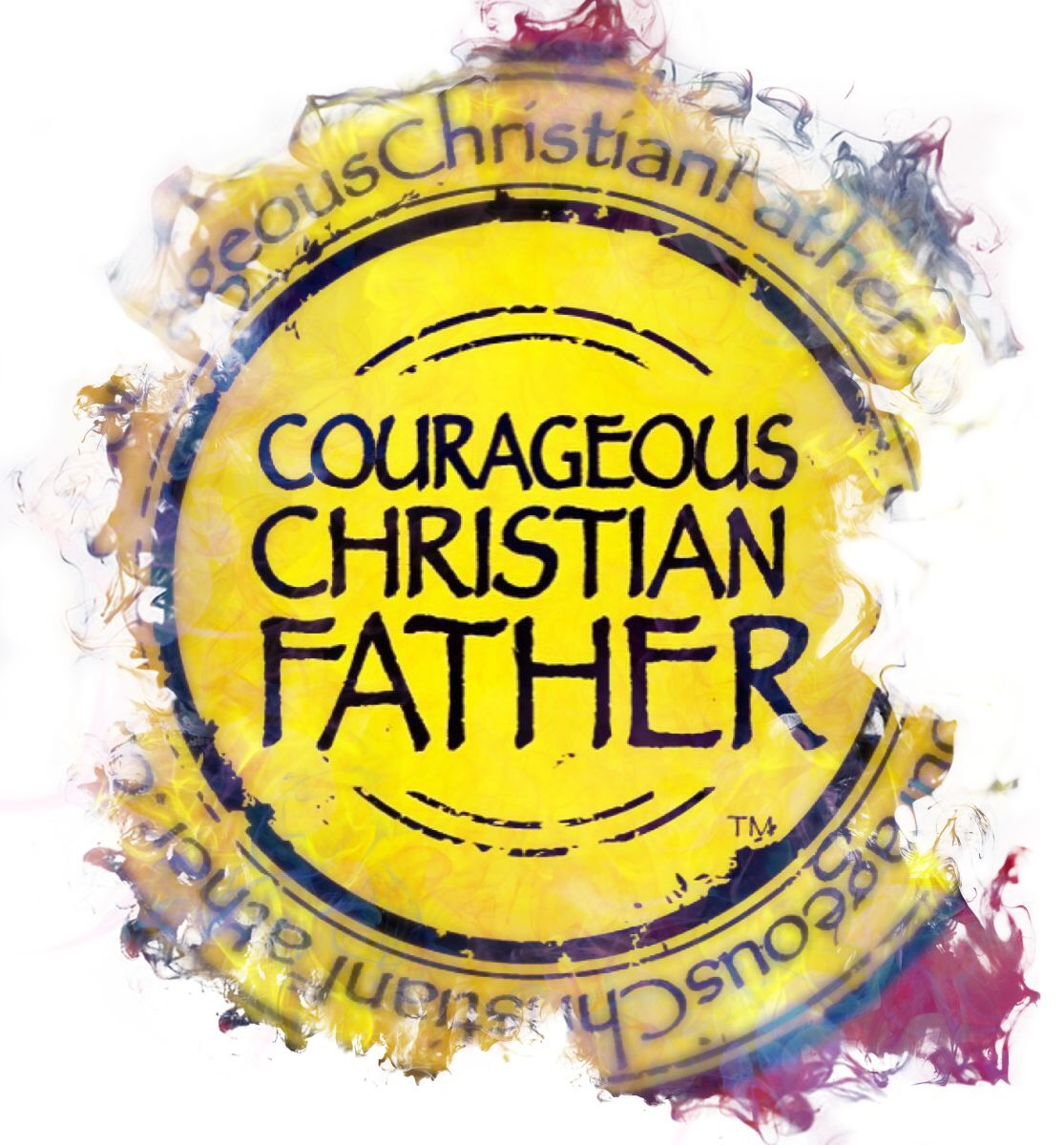 Rugged Courageous Christian Father Logo