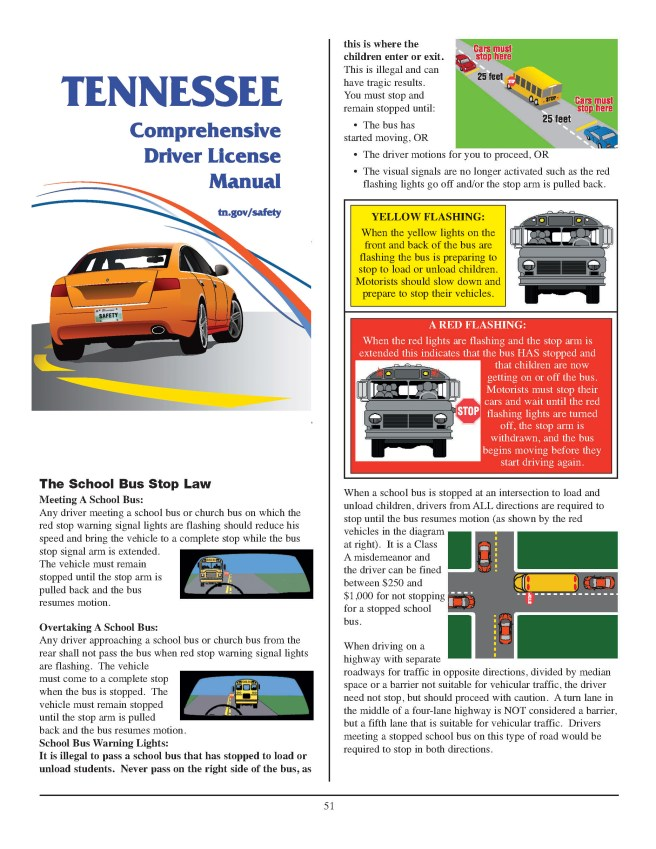 The Tennessee School Bus Stop Law - This is the law for a stopped school bus in the State of Tennessee and how to handle when you see that school bus stopped. #schoolbus