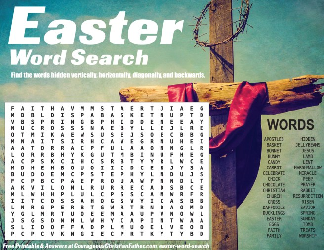 Easter Word Search Printable - A Free download for you to use at home, school, church or anywhere! Find these Easter terms inside this free Easter Printable.