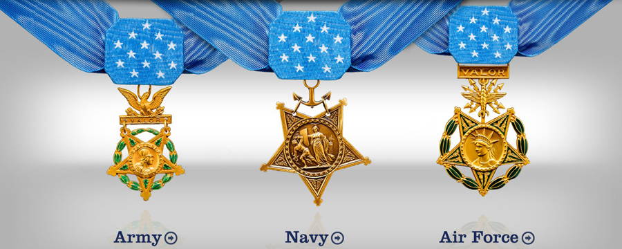 Medal of Honor awards Army Navy and Air Force