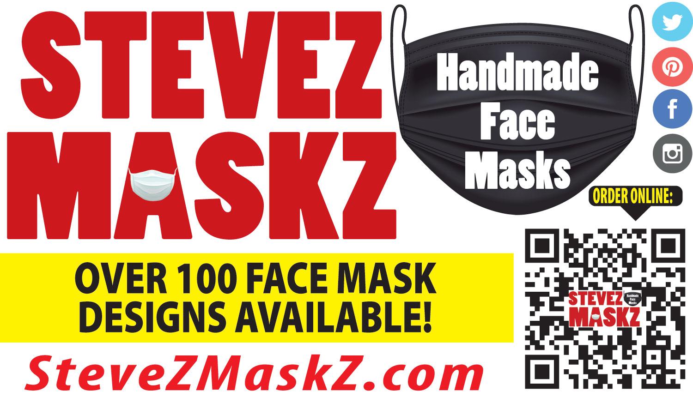 SteveZ MaskZ Business Card Front
