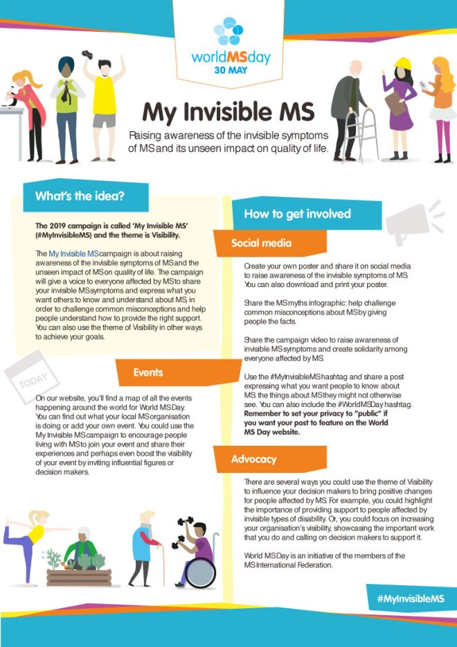 World MS Day - MS is short for Multiple Sclerosis. This day is a day to help raise awareness of MS. #WorldMSDay #MSDay #MyInvisibleMS