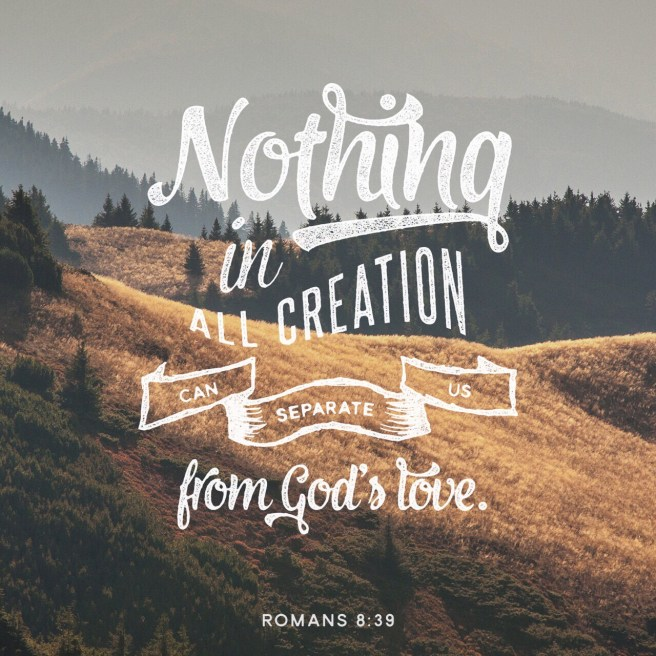 "VOTD June 11, 2019 ""For I am convinced that neither death, nor life, nor angels, nor principalities, nor things present, nor things to come, nor powers, nor height, nor depth, nor any other created thing, will be able to separate us from the love of God, which is in Christ Jesus our Lord."" ‭‭ROMANS‬ ‭8:38-39‬ ‭NASB‬‬"