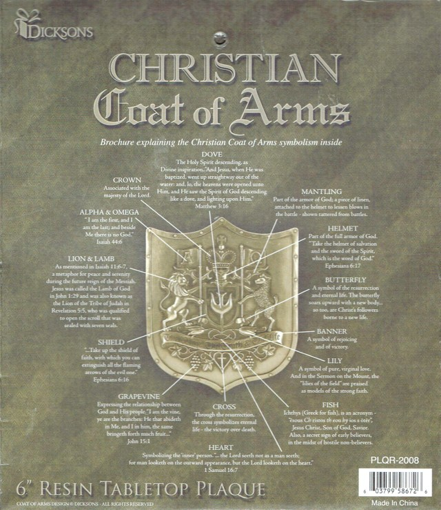 Christian Coat Of Arms and along with the Bible reference for each one.