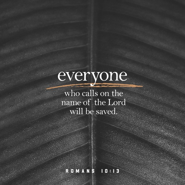 VOTD July 3, 2019 - for WHOEVER WILL CALL ON THE NAME OF THE LORD WILL BE SAVED. ROMANS 10:13 NASB