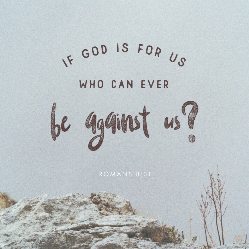VOTD August 22 - What then shall we say to these things? If God is for us, who is against us? Romans‬ ‭8:31‬ ‭NASB‬‬