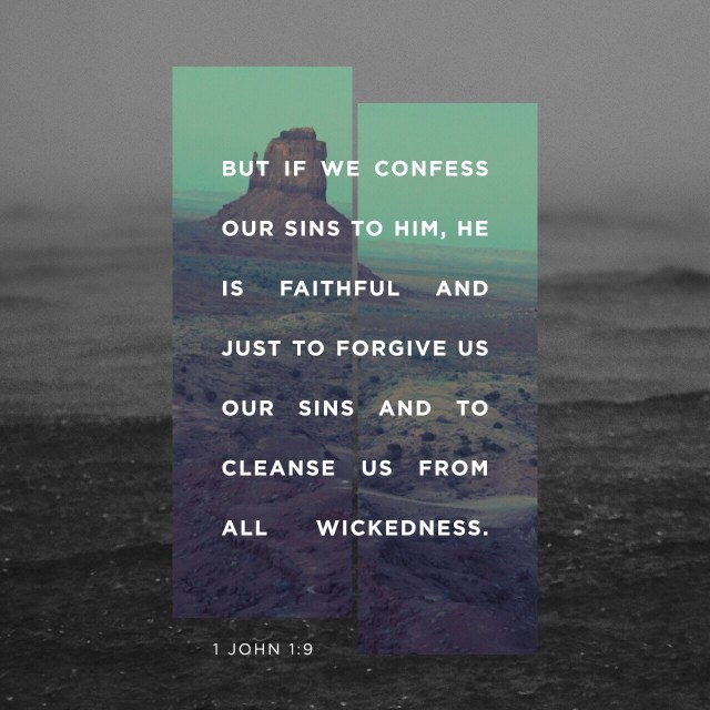 VOTD August 29 - If we confess our sins, He is faithful and righteous to forgive us our sins and to cleanse us from all unrighteousness. 1 John 1:9