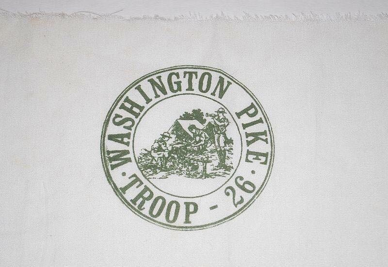 The Boy Scout Troop I grew up in, Troop 26, where I got my Eagle from made our own and we silk screened them. (Washington Pike United Methodist Church)