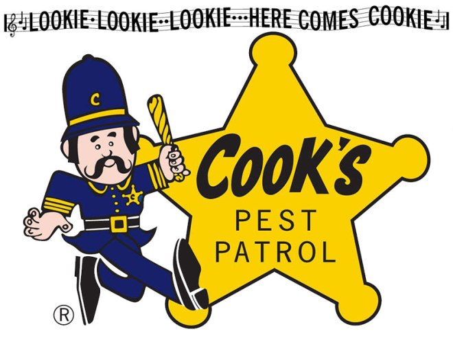 Lookie, Lookie, Lookie, Here Comes Cookie, Cook's Pest Control - This jingle is one I always remember hearing when I was a child. #CooksPestControl