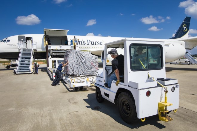 Samaritan's Purse Airlifts Critical Relief to Hurricane-Battered Bahamas - Samaritan's Purse is airlifting its DC-8 cargo plane stocked with critical supplies to the Bahamas after Hurricane Dorian pummeled the island—leaving thousands of people without basic necessities. The first plane load includes emergency shelter material, household water filters and two community water filtration units specially designed to turn saltwater into drinking water.