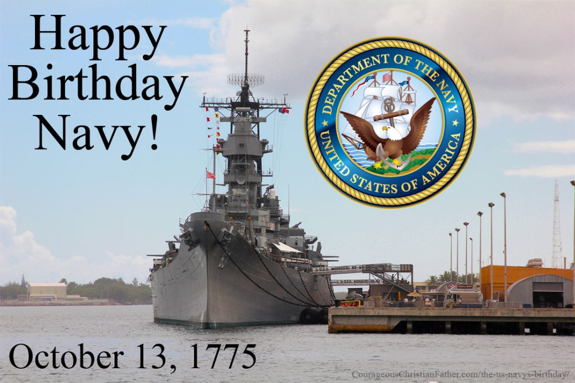The US Navy's Birthday - This is the birthday of the United States Navy. #Navy #USN