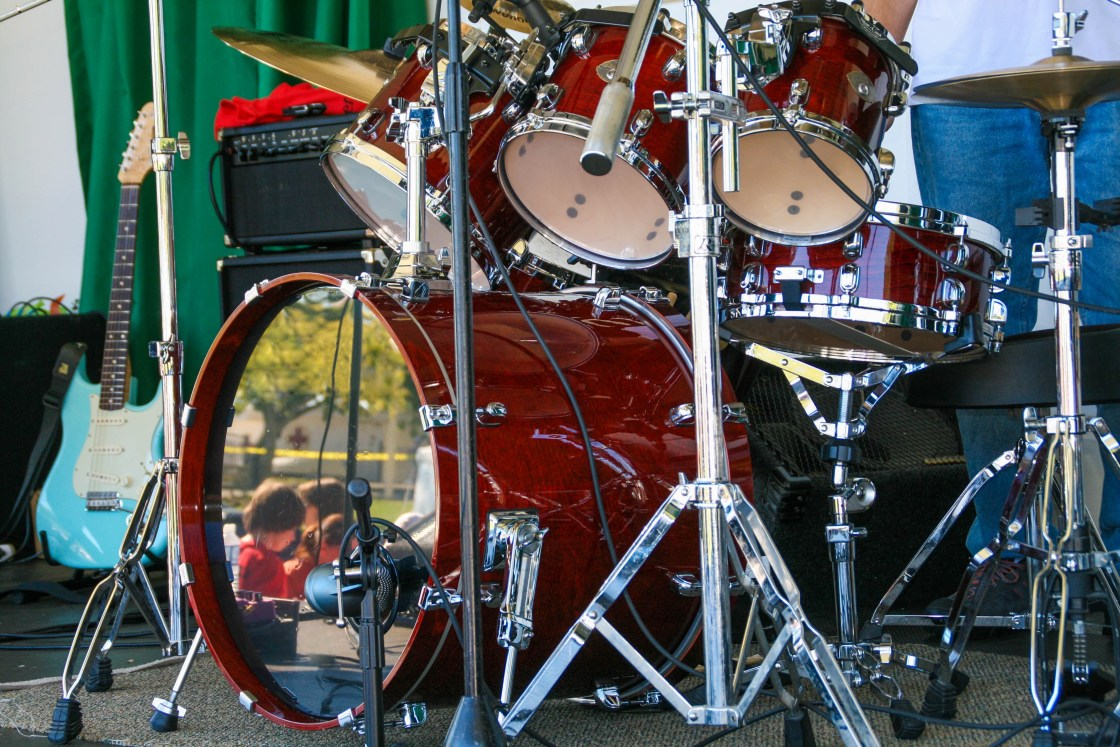 The Drums ... If you were in the band, what instrument would you be playing? #writingprompts #dailyPrompt, #prompts #Drums I'd have a complete set of red drums at that.