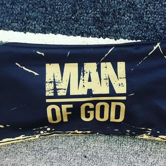 New Orleans Saints linebacker Demario Davis fined for wearing a Christian headband that reads Man of God. #DemarioDavis #NewOrleansSaints