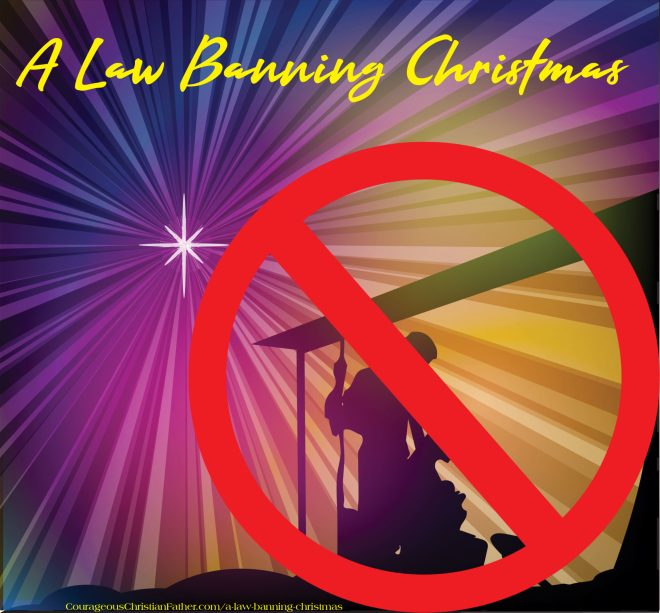 A Law Banning Christmas - Future America and Christmas is banned in our country that was once free. You cannot celebrate it or even talk about Christmas.