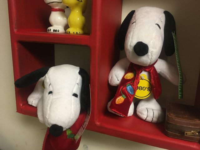 During our visit, KARM Christmas Store, my wife and I were able to score some Snoopy and Peanuts Christmas items she didn't have in her collection. Our finds were $10.00 each though. See below the two vintage Snoopy finds. (Two big stuffed Snoopys)