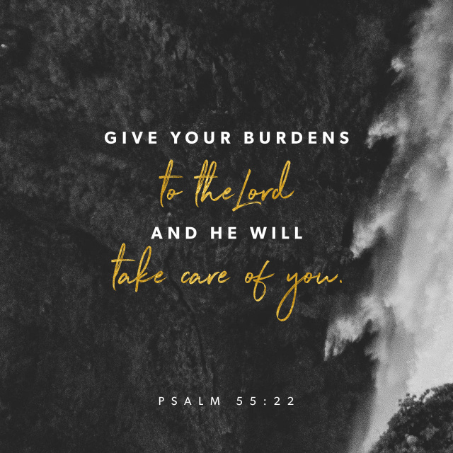 "VOTD March 22 - ""Cast your burden upon the LORD and He will sustain you; He will never allow the righteous to be shaken."" ‭‭Psalms‬ ‭55:22‬ ‭NASB‬‬"