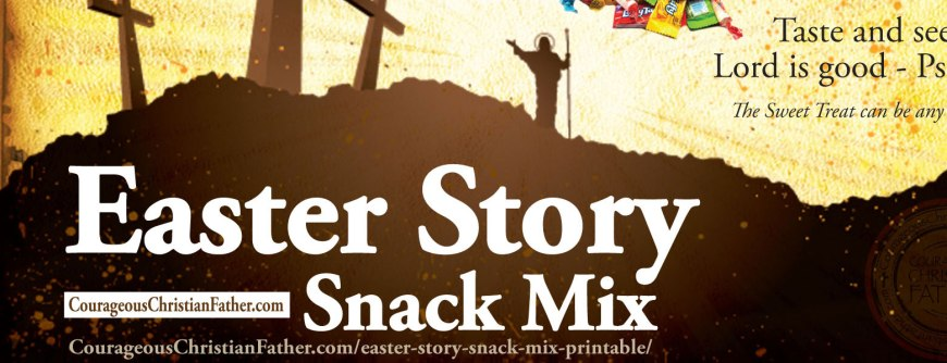 Easter Story Snack Mix Printable
