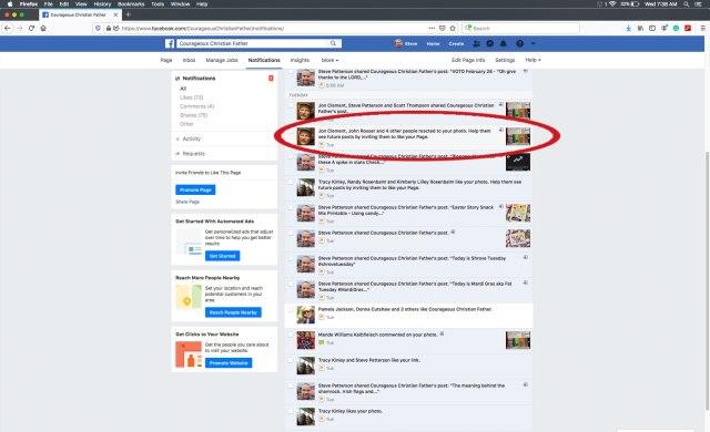 Invite Facebook Likes via interactions (Desktop)