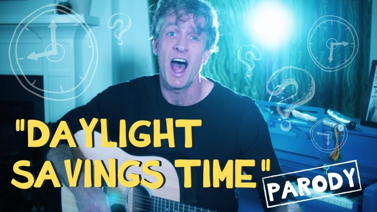 Daylight Savings Time Parody by the Holderness Family to the tune of a Green Day Song - A reminder to set your clocks ahead an hour! #daylightsavings #daylightsaving #springforward #parody #timechange