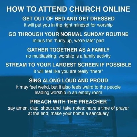 How to attend Church Online - Here are six steps on attending your church online. #OnlineChurch