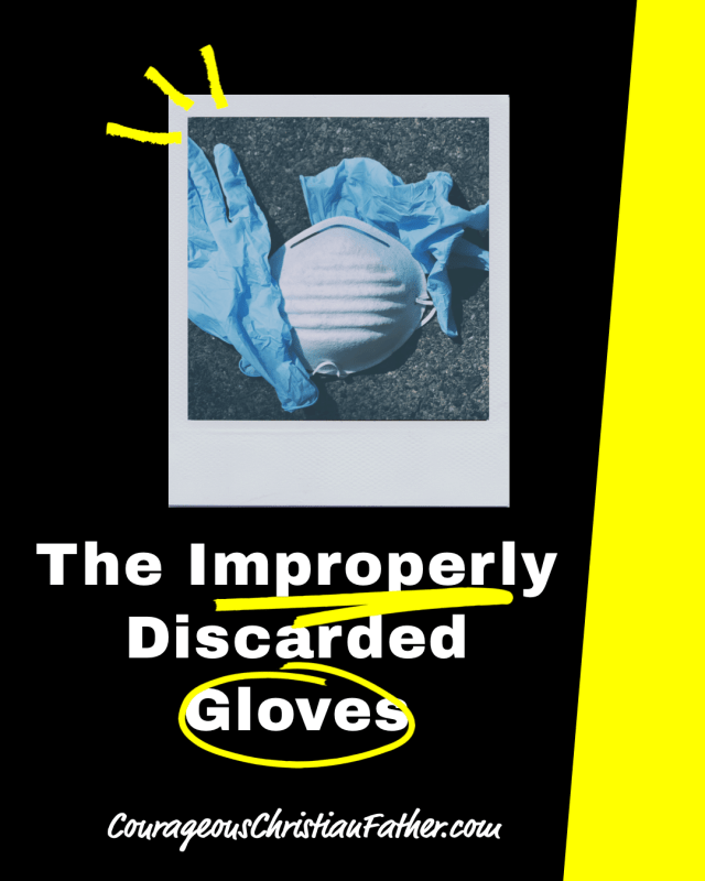 The Improperly Discarded Gloves, Face Mask - During this COVID-19 Coronavirus pandemic, people are wearing gloves and face masks and discarding them incorrectly.  #Gloves #FaceMask